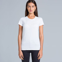 Special: AS Colour White Wafer Women Crew Tee